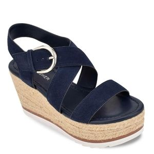 Marc Fisher Shoes - Navy Marc Fisher Zain Espadrille Wedge